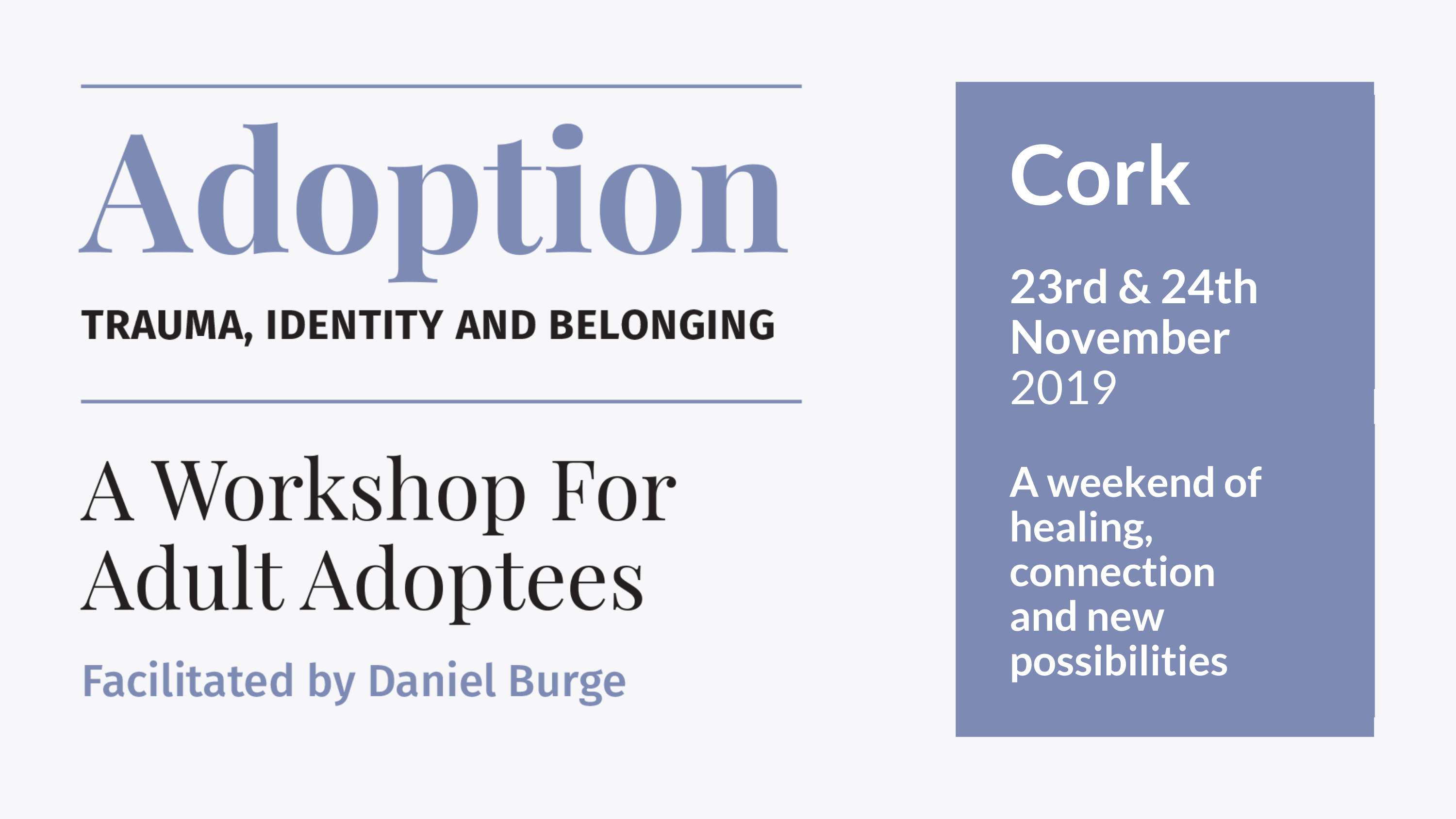 Cork Adoption workshop